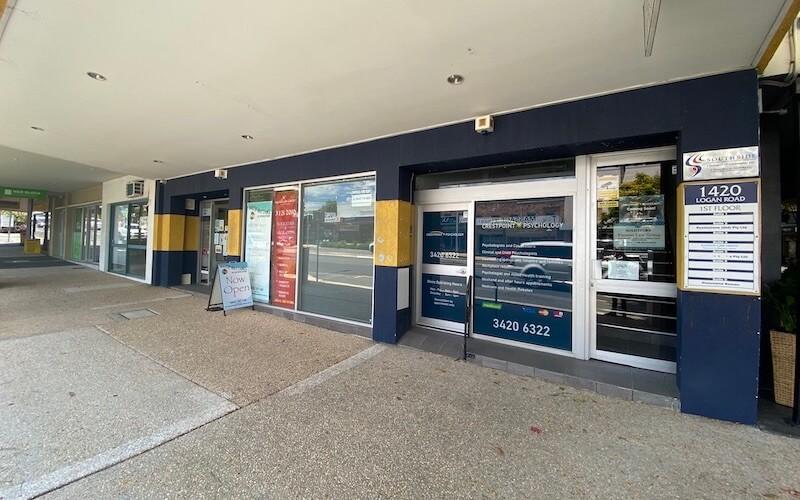 Crestpoint Wellbeing Centre entrance from Logan Rd Mt Gravatt